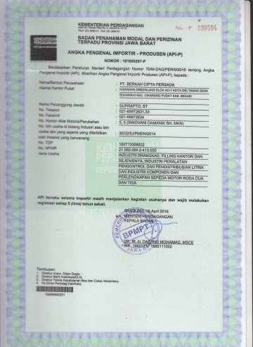API-P Certificate