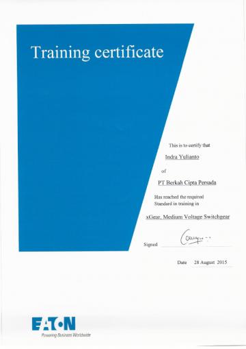 Training EATON Certificate