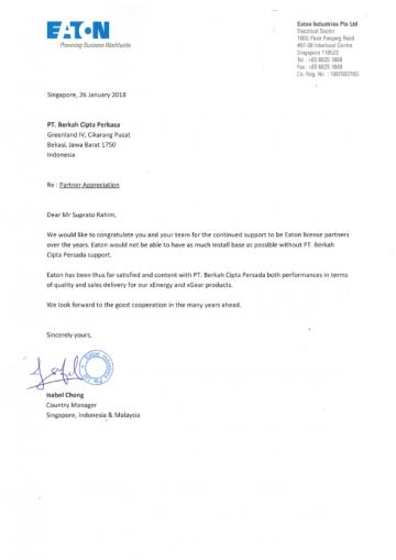 Partner Appreciation Letter